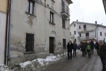 Sisma: delegazione del Comitato delle Regioni UE in visita a Campotosto