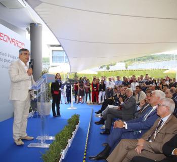 Leonardo; D'Alfonso alla inaugurazione nuovo stabilimento dell'Aquila