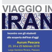 """Domani, venerdì 23, all'Aurum di Pescara, inaugurazione della mostra """"Viaggio in Iran"""""""
