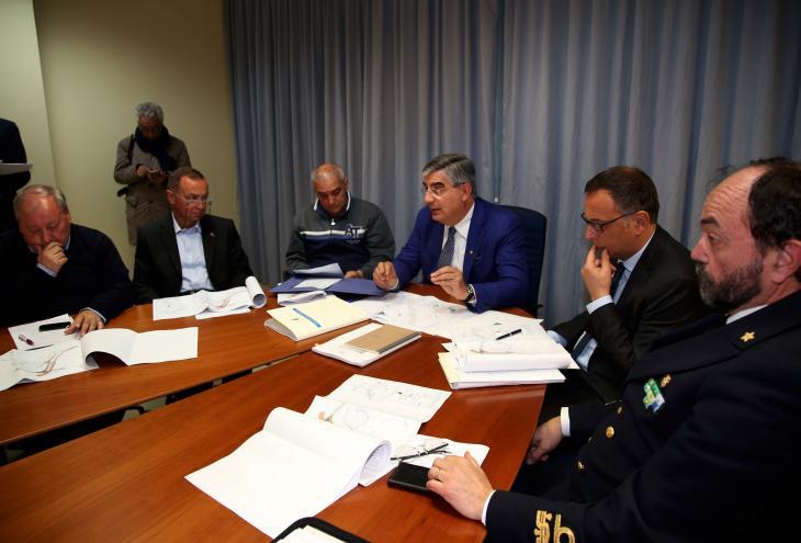 Fot della riunione con il presidente D'Alfonso