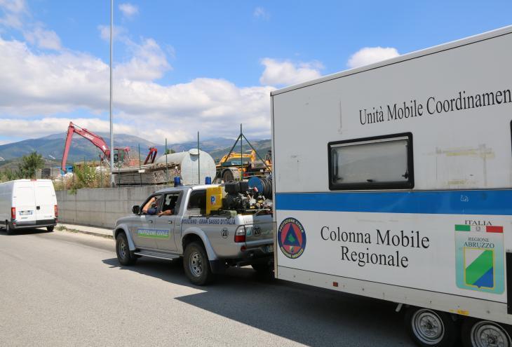 Colonna mobile protezione civile abruzzo