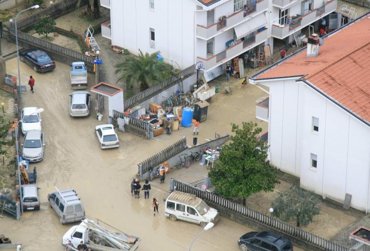 alluvione dall'alto