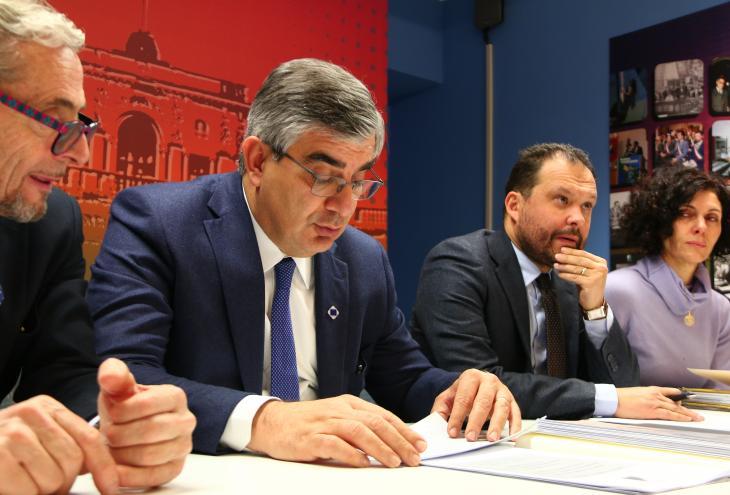 Conferenza stampa con il presidente D'Alfonso