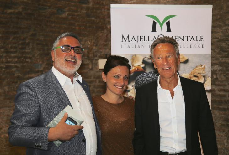 nella foto: da sx Giancarlo Zappacosta, il sindaco di Lettopalena Carolina De Vitiis e il vicepresidente Giovanni Lolli