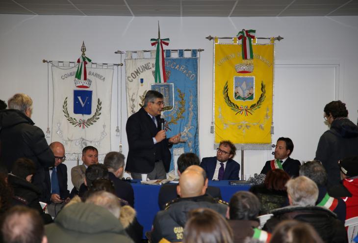 Cerimonia di inaugurazione con il ministro Luca Lotti