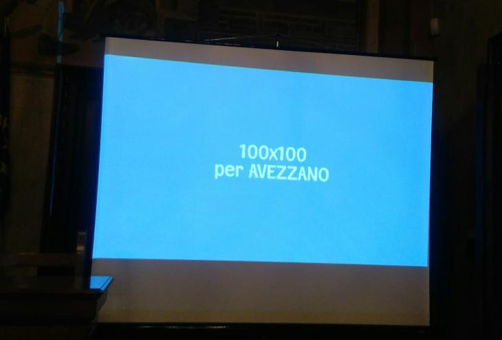 foto: filmato e logo 100 giorni Sindaco  De Angelis