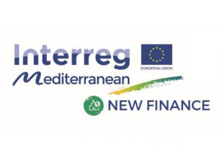 Logo Interreg Mediterranean progetto New Finance