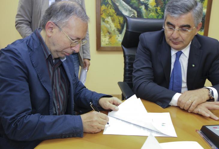 Mario Semproni e Luciano D'Alfonso
