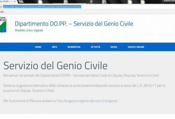 immagine dell'home page del portale MUDE-RA