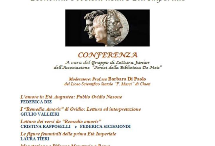 in foto: locandina evento Biblioteca CHIETI