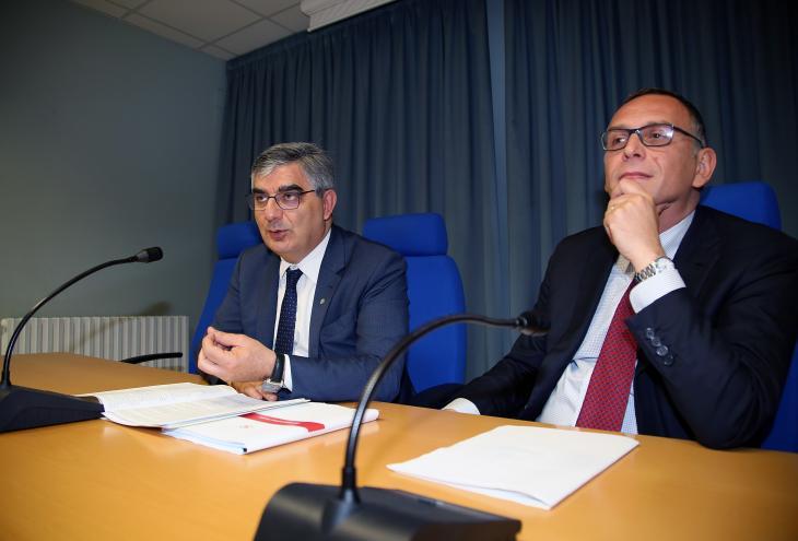 D'Alfonso e il sindaco Alessandrini