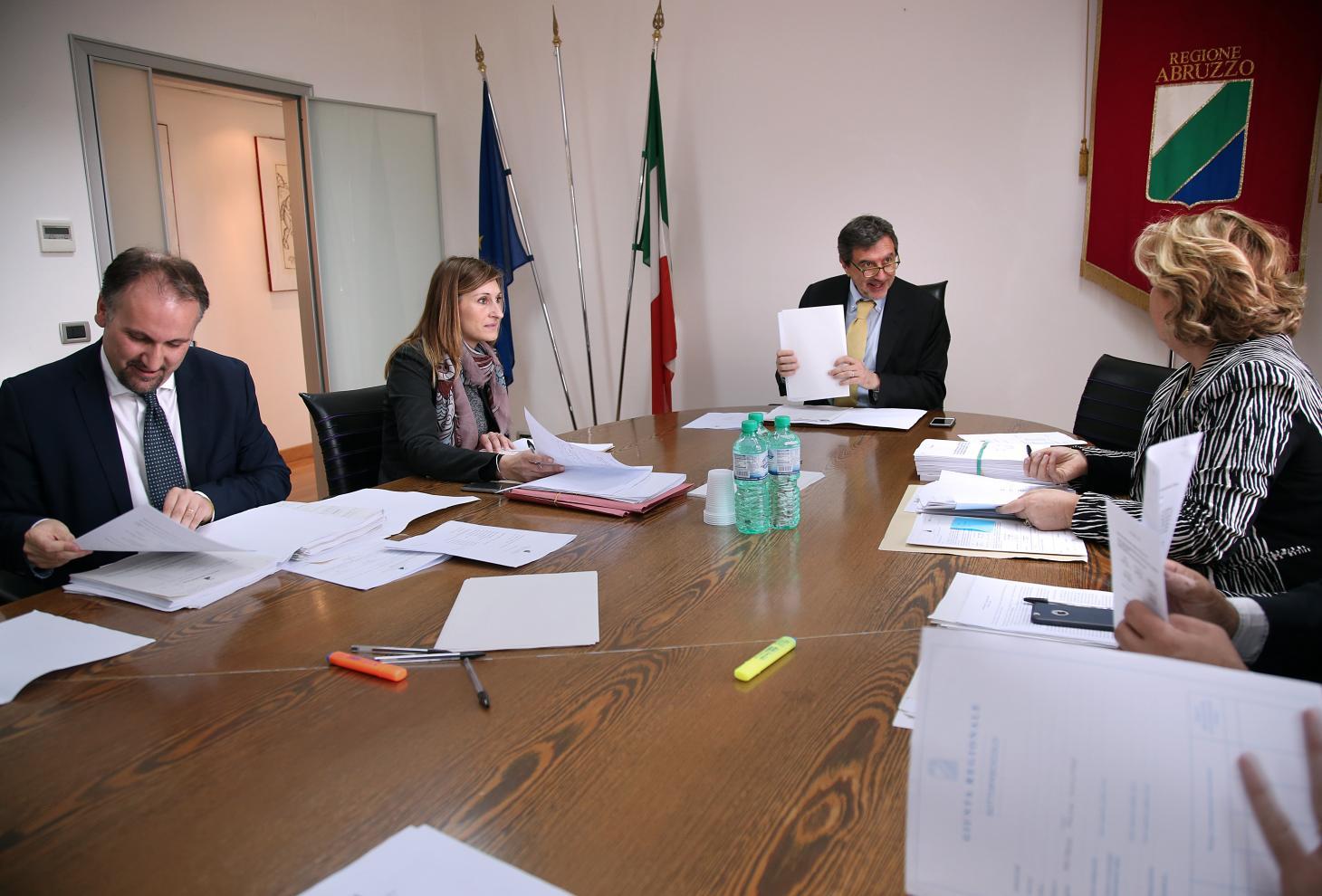 La seduta di Giunta a Pescara