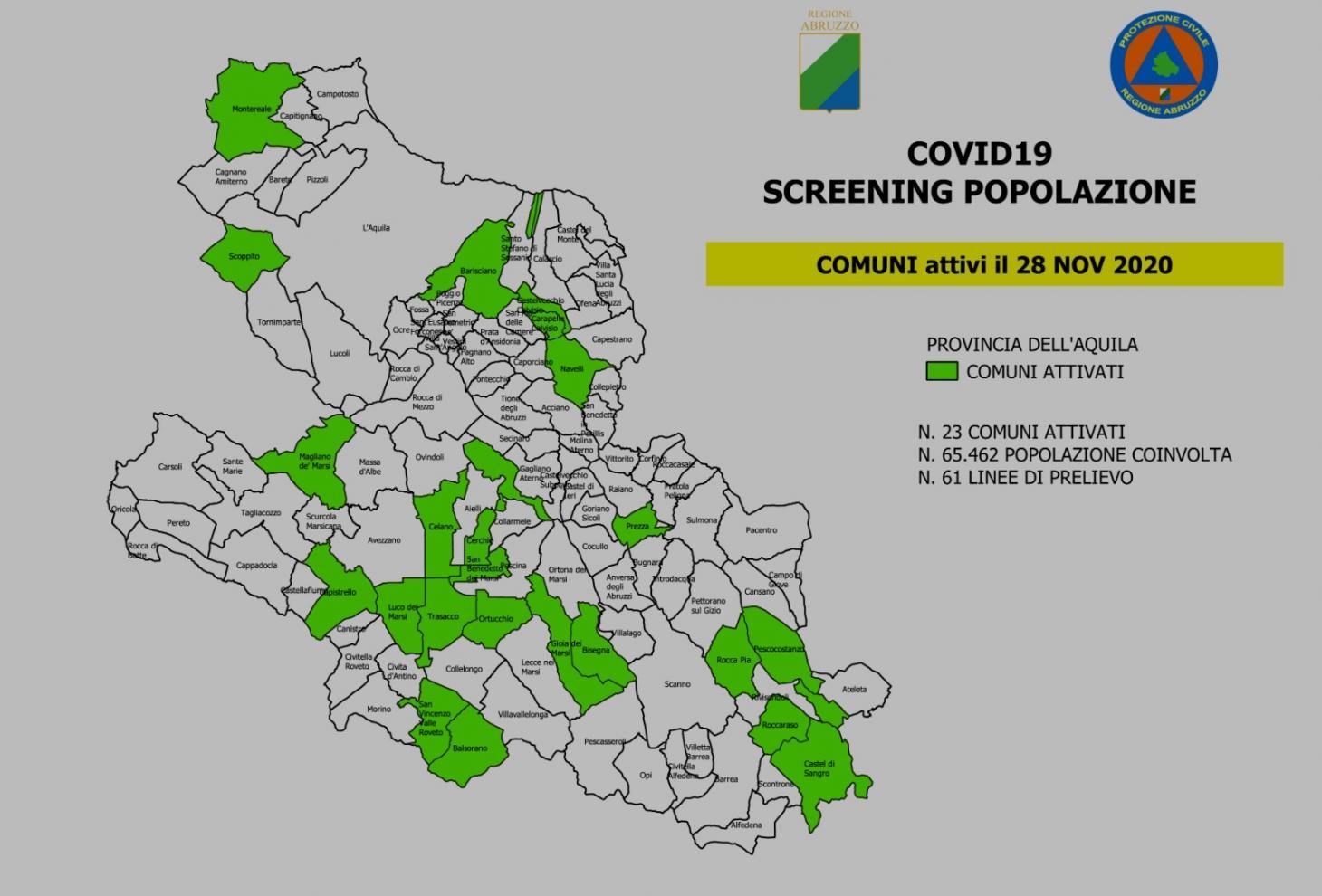 Cartina Abruzzo Pdf.Covid 19 Scaricabile Il Modulo Per Lo Screening Attivo In Provincia Dell Aquila Regione Abruzzo