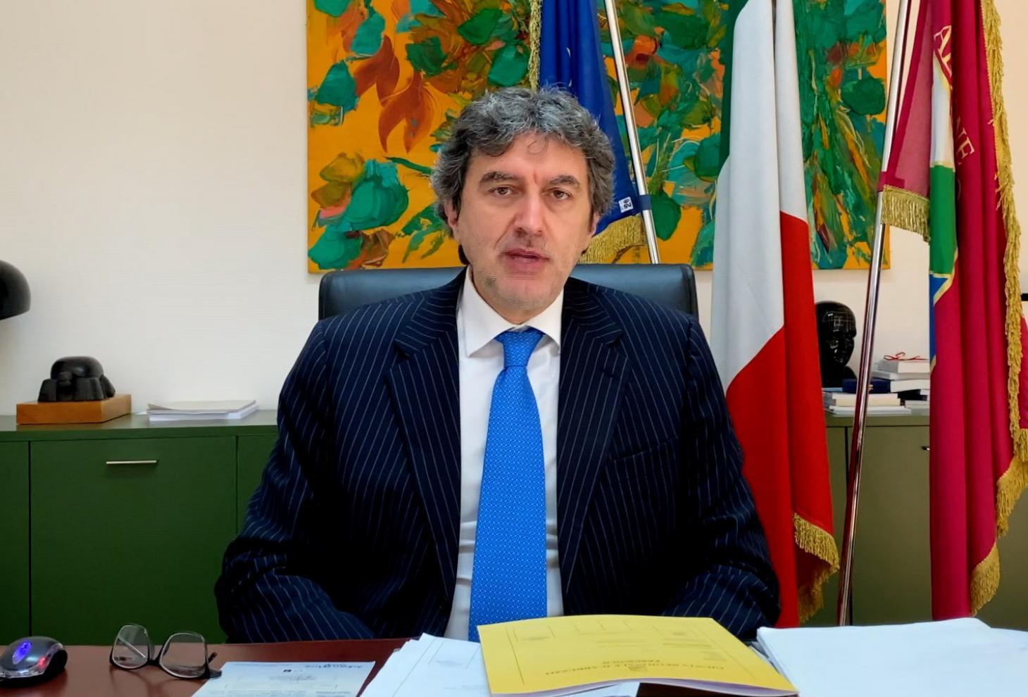 Il presidente Marco Marsilio
