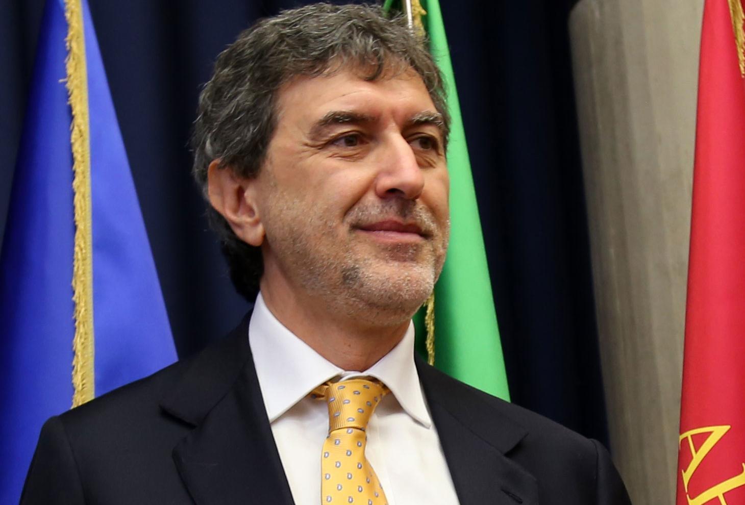 Nella foto il presidente Marsilio
