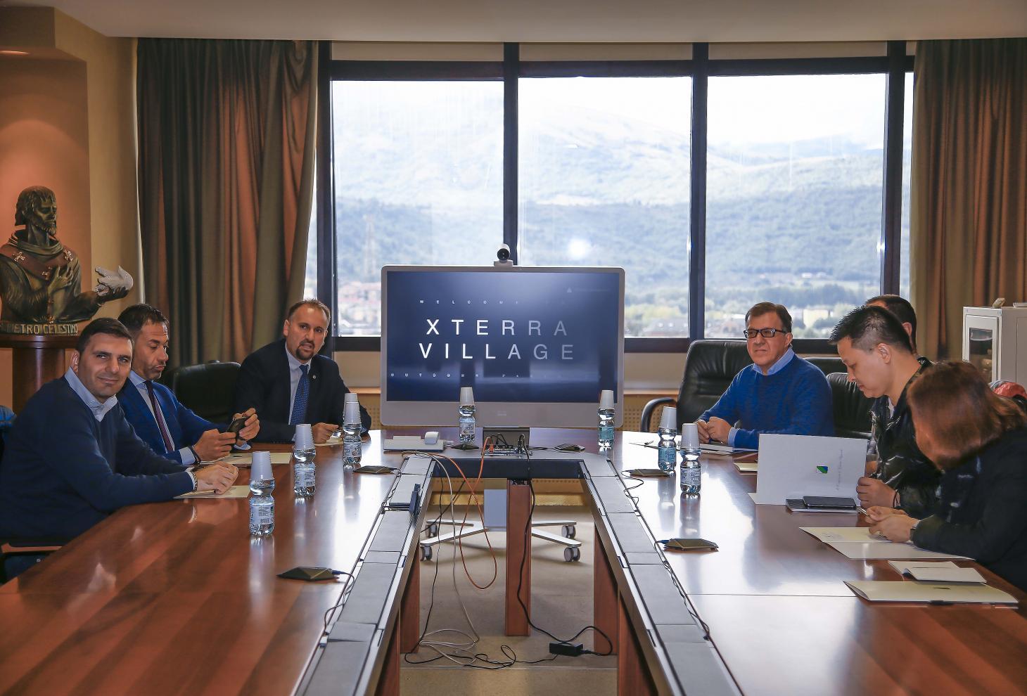 Un momento dell'incontro in Regione a L'Aquila