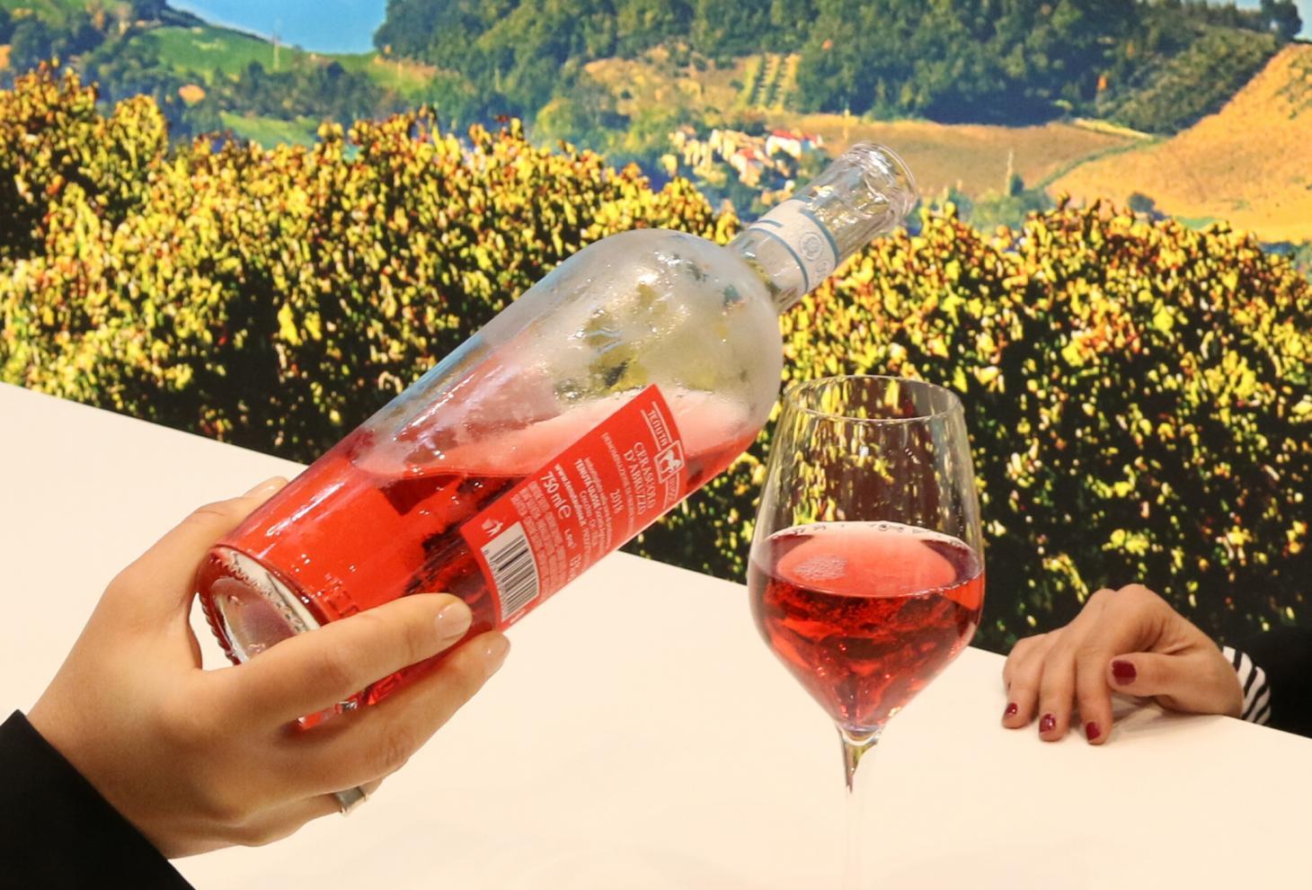 Bottiglia di cerasuolo d'Abruzzo