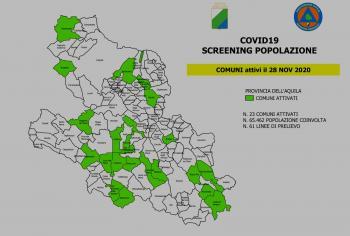 Covid-19: Scaricabile il modulo per lo screening attivo in provincia dell'Aquila