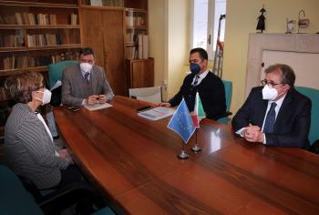 Covid: Marsilio incontra il sindaco di Guardiagrele. Domani al via screening di massa sulla popolazione