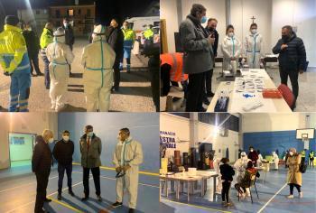Covid-19: Marsilio visita i punti-screening dell'aquilano