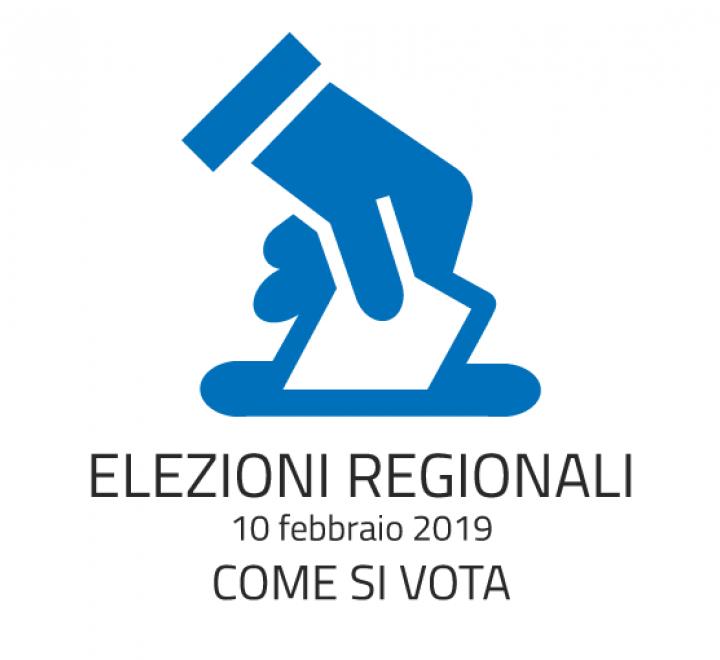 Elezioni Regionali - 10 febbraio 2019 - Come si vota
