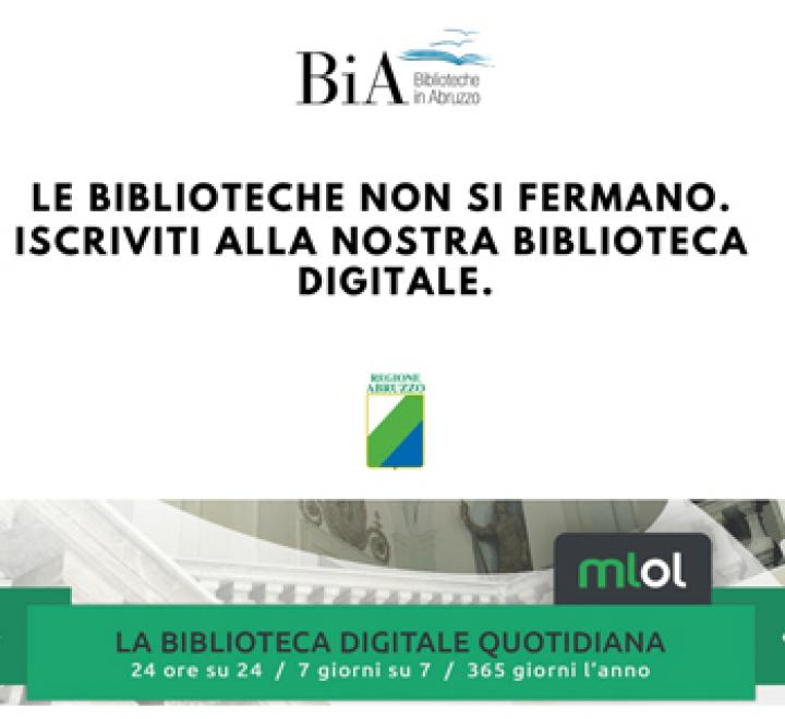 Le biblioteche della Regione Abruzzo non si fermano