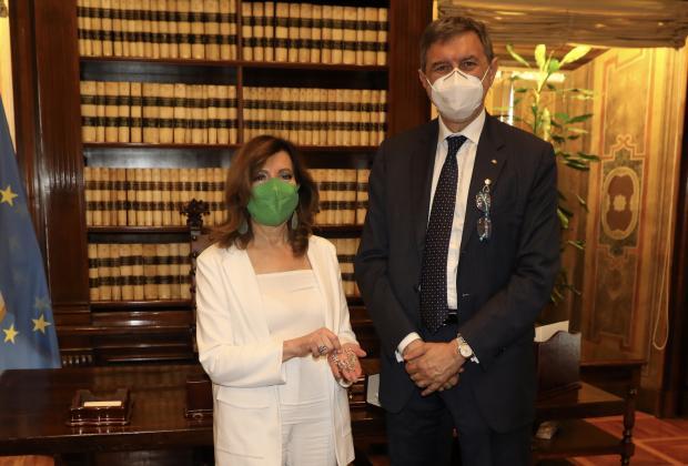 Visita di cortesia del Presidente Marsilio alla Presidente del Senato Casellati