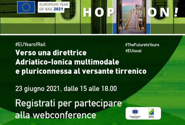 UE: Marsilio, mercoledì videoconferenza su collegamento Adriatico- Ionico- Tirrenico