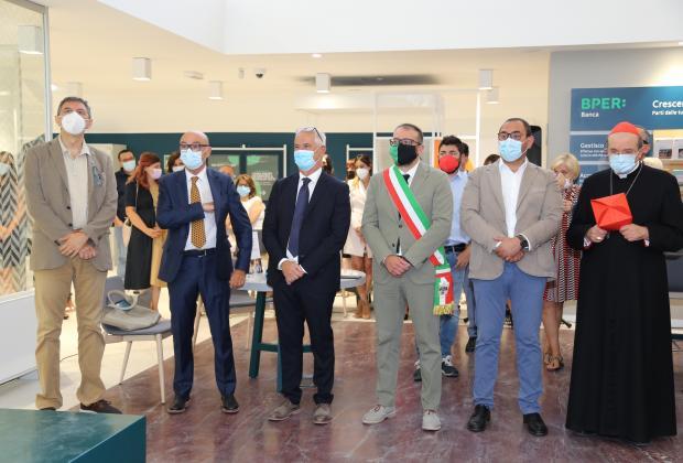 Riaperture all'Aquila: Marsilio e Imprudente alla cerimonia di riapertura della sede Bper