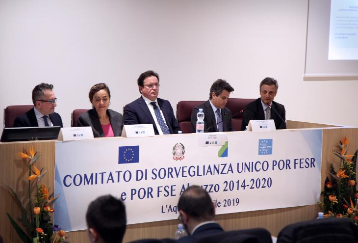 La riunione del Comitato di sorveglianza sui Fondi europei all'Aquila