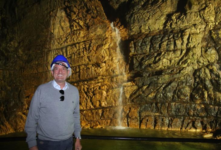 Giorgio D'Ignazio visita le Grotte di Stiffe