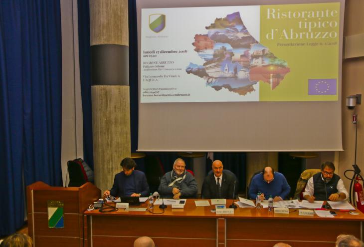 presentazione del marchio europeo Ristorante tipico d'Abruzzo